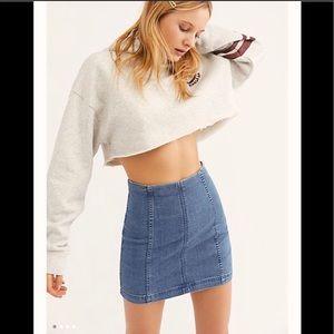 NWT Free People size XS  denim skirt